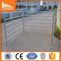 cheap yard fencing/metal galvanized cattle fence/iron silver painted cattle yard panel 2016 new product