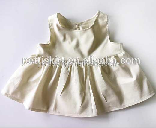 Latest Baby Frock Design Pictures Little Girls Princess Dress Clothes Baby Plain White Birthday Dresses