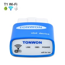 TONWON Wifi OBDII Scan Tool Scanner Adapter Check Vehicle Engine Light For iOS Android Same as Vgate icar1 Wif