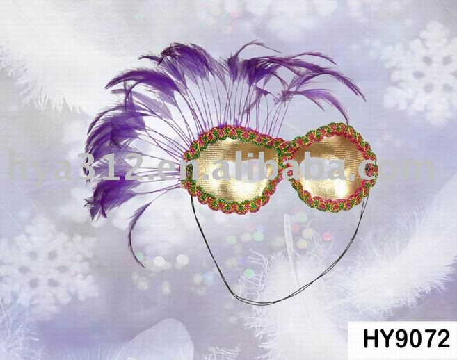 Mardi gras feather mask
