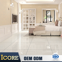 Large Size Nano Polished Ceramic Bright White Porcelain Floor Tile