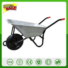 200kg capacity galvanized durable steel construction wheelbarrow Construction garden wheel barrow trolley handbarrow cart