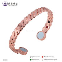 High Quality Adjustable High Power Bio Copper Health Bracelets Can Add Magnet,Germanium Powder,Negative Ions CB-6066