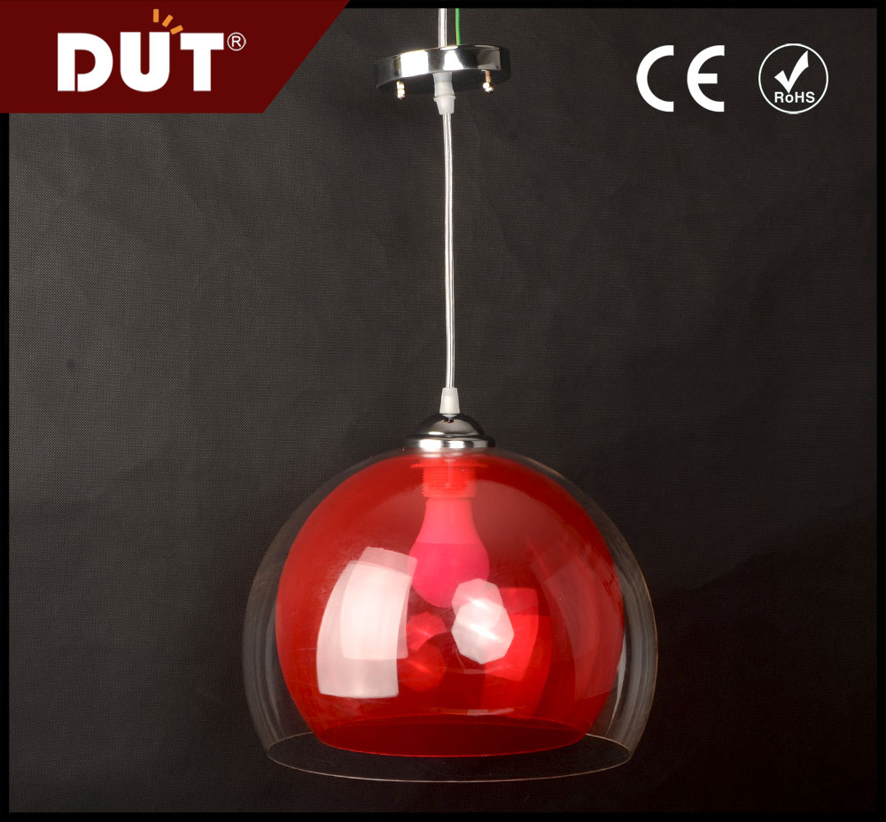 double plastic lampshde energy-saving/led source light for public decorative pendant lamp with hanging wire