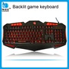 Multimedia Waterproof keyboard Professional LED Backlit Gaming Keyboard with Braided Cable
