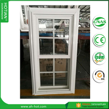 American style PVC double hung window vertical sliding UPVC window sash window