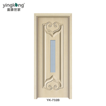 YK732B Customized design PVC plastic interior/inner/internal wooden door best price