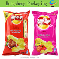 China factory wholesale custom printing potato chip packaging bags / plastic bags for potato chips