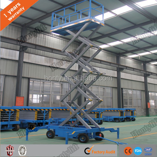 extendable mobile hydraulic lift aerial elevated work platform
