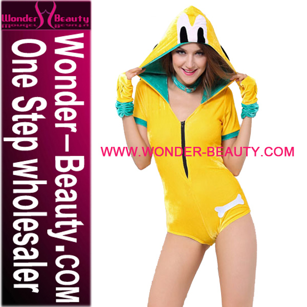 New Launched Women Sexy Yellow Puppy Costumes Wholesale Cosplay Costumes