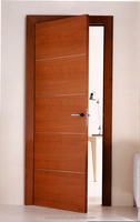 China High quality Interior simple solid wooden door for hotel