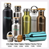 China manufacture design corporation logo stainless steel travel self cooling water bottle with bamboo cover new