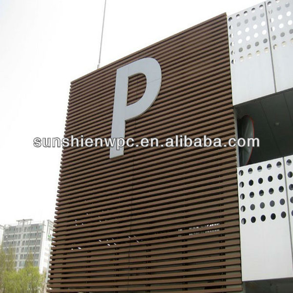 Outdoor waterproof wood plastic composite wall panel cladding