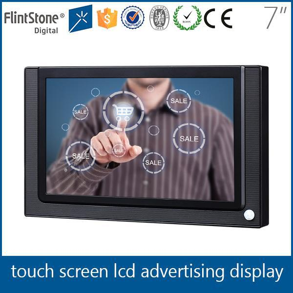 flintstone 7 inch ad monitor touch screen / digital LCD advertisement display / marketing business advertisement product