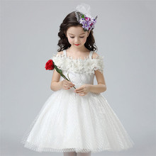 BL151A Cheaper price Ball Gown Wedding Girl Strapless Dresses Princess Prom kids dress for 2017
