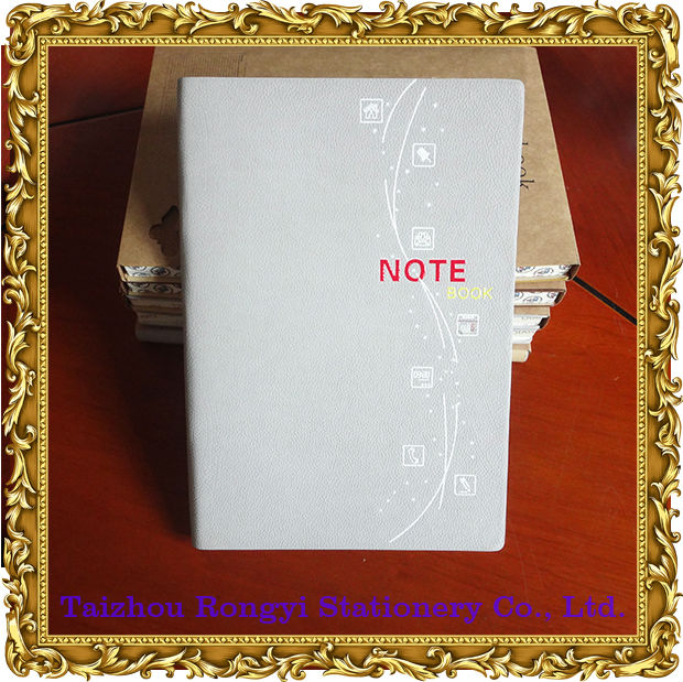 Logo print notebooks with simple design and clear cover