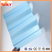China factory blue clear corrugated plastic greenhouse panels for swimming pool cover