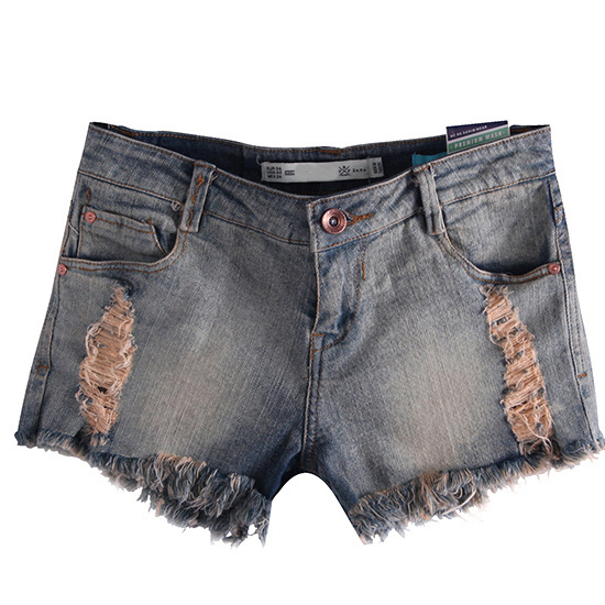 Top fashion ripped jeans shorts for women europeans style brands straight destroyed hole vintage summer denim short pants HOT