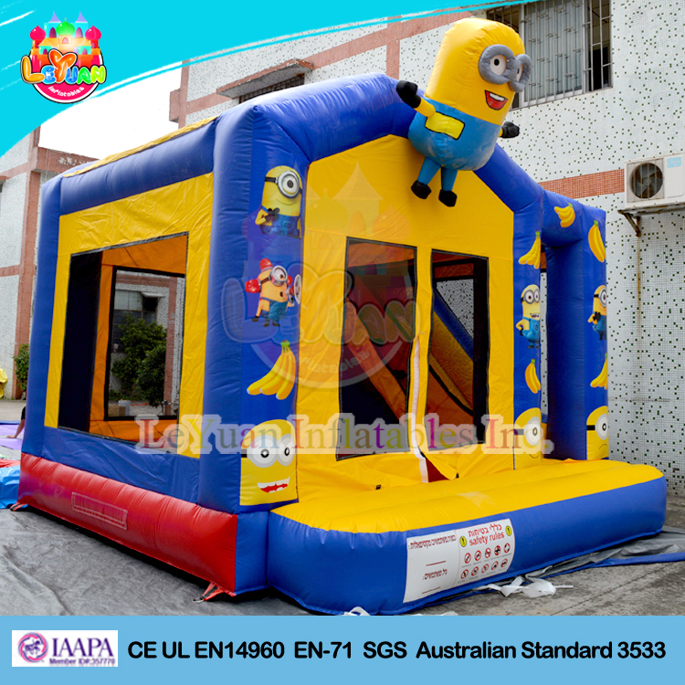Hot sale Minion cheap inflatable bouncers/ jumping castle