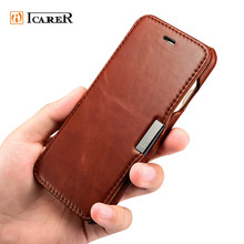 ICARER Book Style Leather Case for mobile phone for iPhone 7