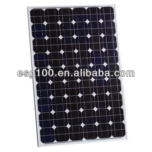 130W China Supply silicon wafer cell mono solar panel