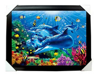 Free sample China supplier aquarium background 3d wallpaper