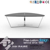Chinese economic only tier glass coffee table