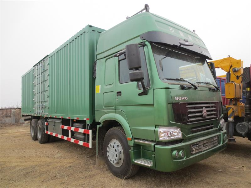 Good Engine !SINOTRUK HOWO Van Cargo Truck For Export