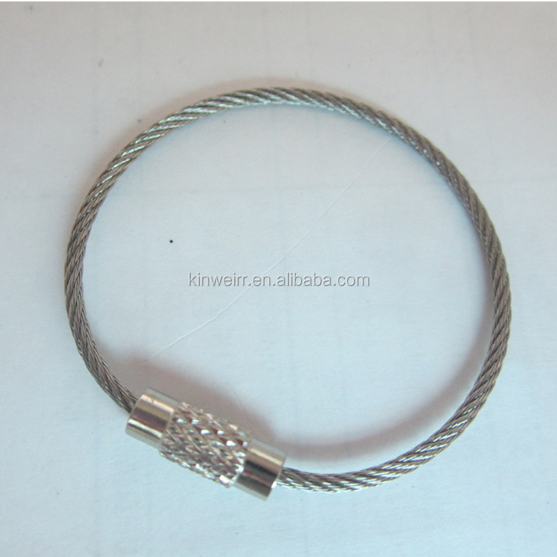 Wholesale Stainless Steel Wire Ring Cable Loops For Luggage Tag