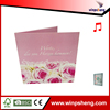 Custom music Valentine day greeting cards with scent