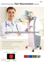 Diode Laser Anti Hair Loss Beauty Machine / low level laser hair restoration / hair growth device