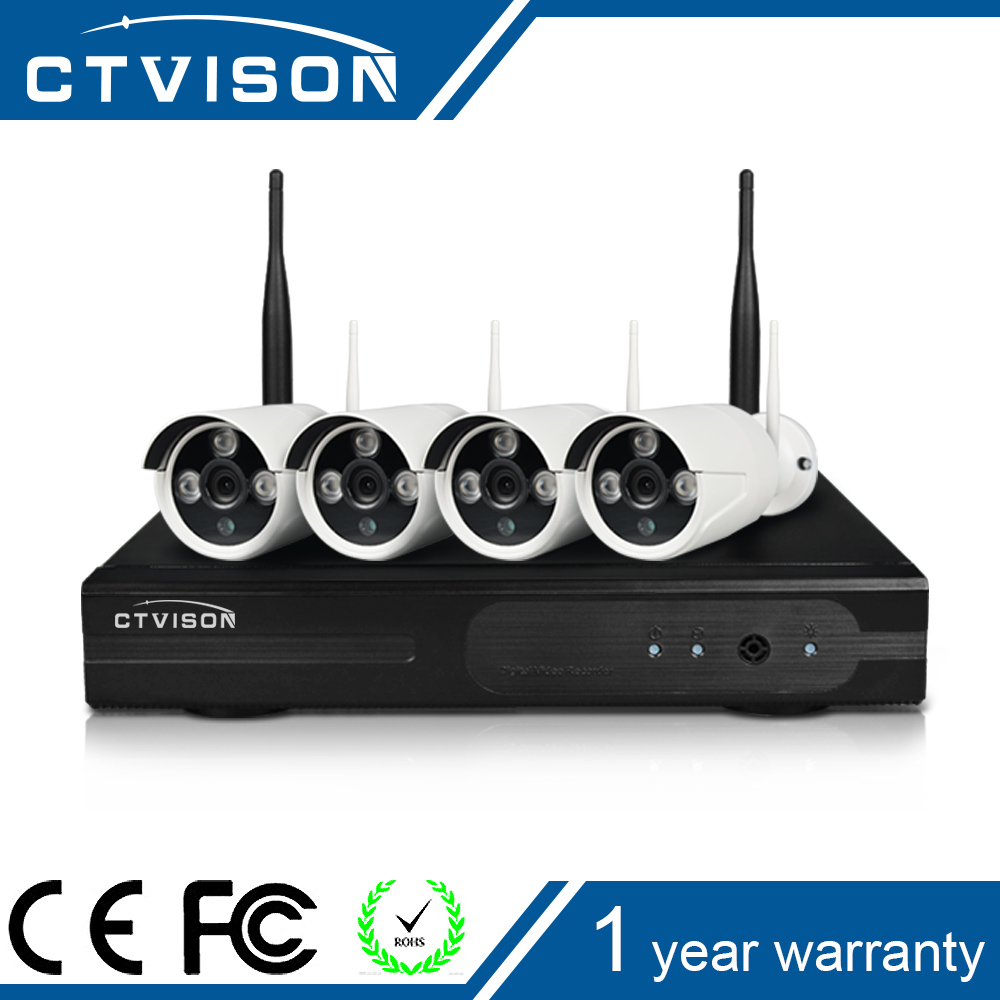 720P ip camera plug en play Outdoor IR Night Vision Home Surveillance WIFI CCTV System HD Wiresless NVR Kit 4CH 1TB HDD