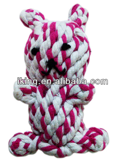 new promotional products novelty items with animal bear soft toy cotton rope dog toy
