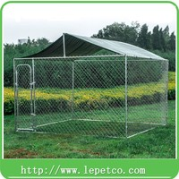 factory wholesale high quality galvanized chain link portable dog kennel