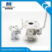 Industrial Forged Stainless Steel Manual Type Flange Ball Valve With Handle