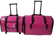 Pink PU travelling dog house