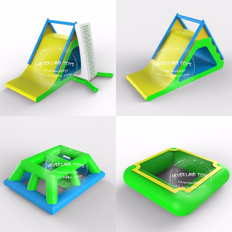 2019 New Design NEVERLAND TOYS Funny adult size inflatable water park Inflatable floating water park games for sale