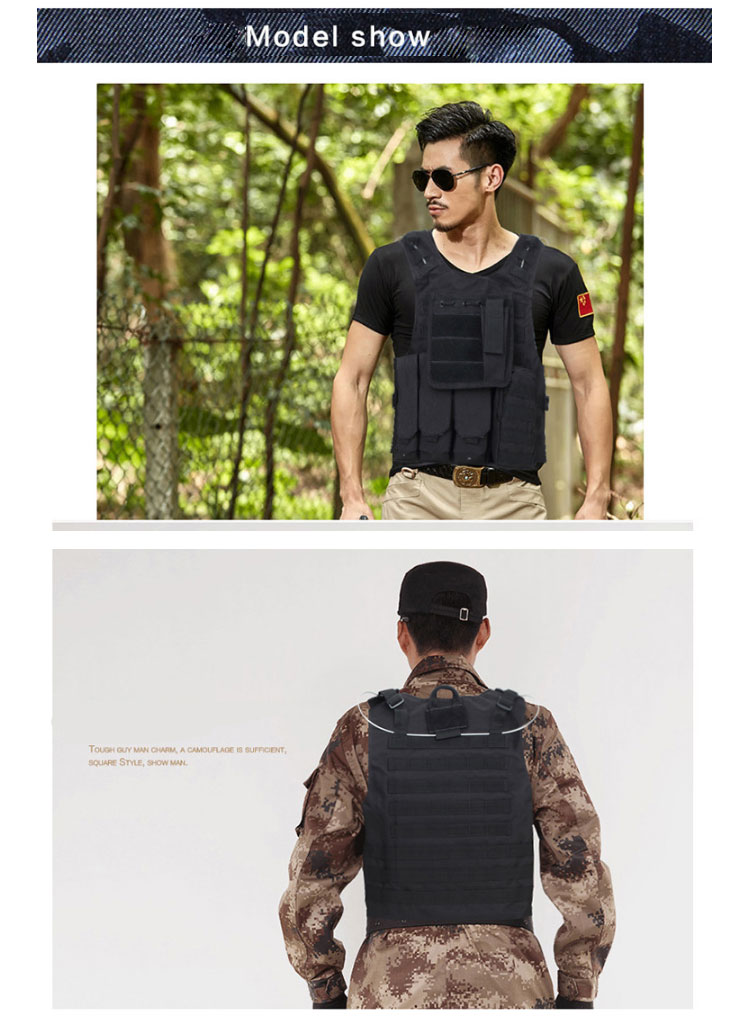 Factory direct Military Army Molle Police Tactical Combat Vest For Shooting and Outdoor Hunting Games