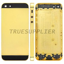 For iPhone 5 24ct gold back housing cover rear panel