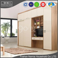 new design modern style high quality bedroom furniture wood fibric wardrobe