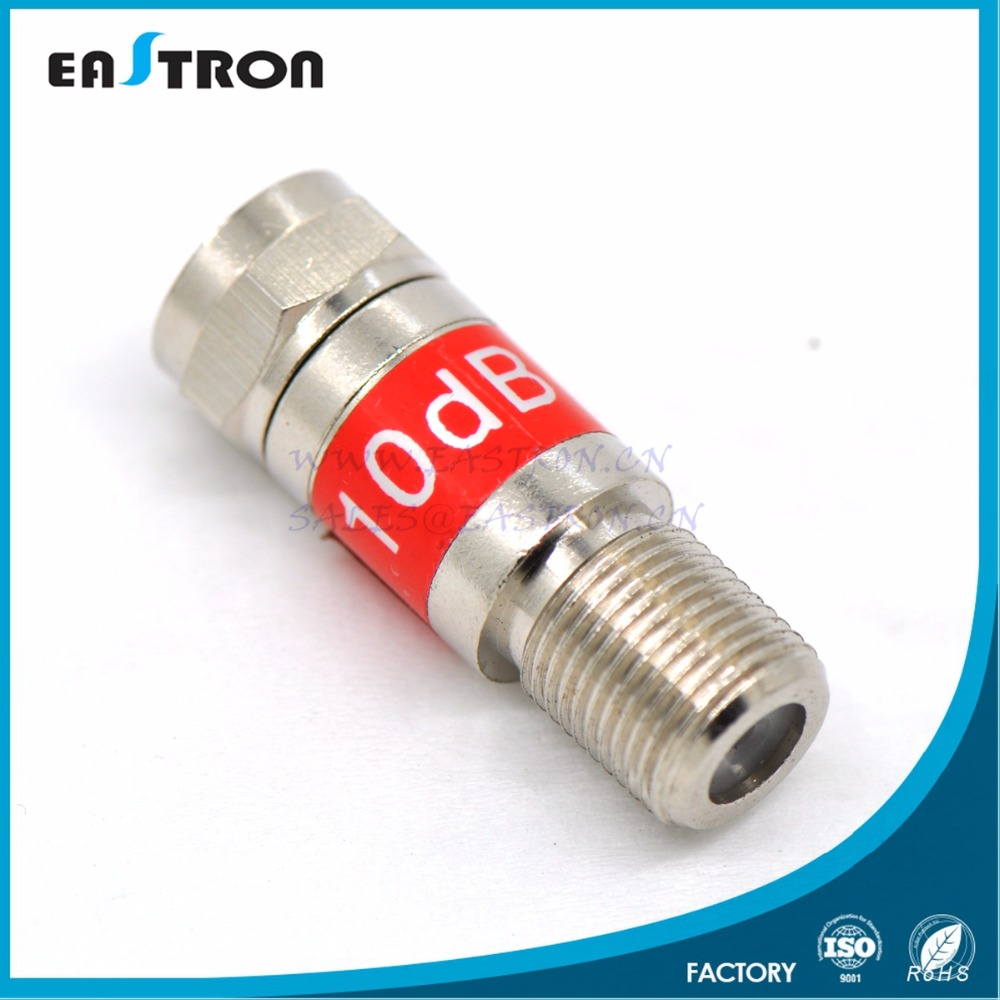 10 db male to female F connector Attenuator