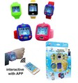 new silicone wrist smart watch for kids interactive with phone APP