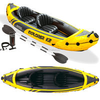 INTEX explorer 68307 2 person inflatable kayak canoe for sale