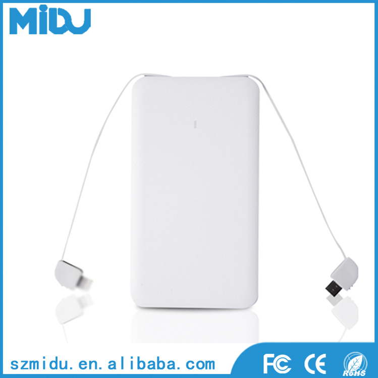 2016 Shenzhen factory charger power banks 5000 mah ce fcc rohs power bank