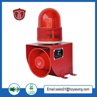 YS-01F Alarm System with Siren,Flashing light and warning at the bottom of the installation