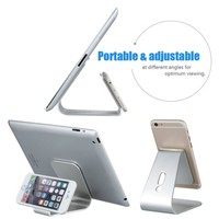 Aluminium stand for iphone for ipad for apple watch, holder for mobilephone without charger
