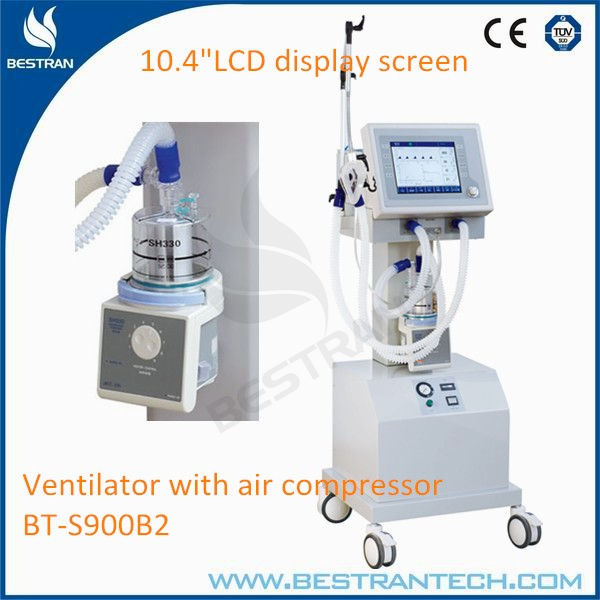 BT-S900B2 hospital emergency equipments CE ISO with air compressor icu ventilator machine price