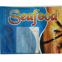 Custom printed OPP PE laminated plastic frozen food packaging bag for fish ball and fish cake packaging