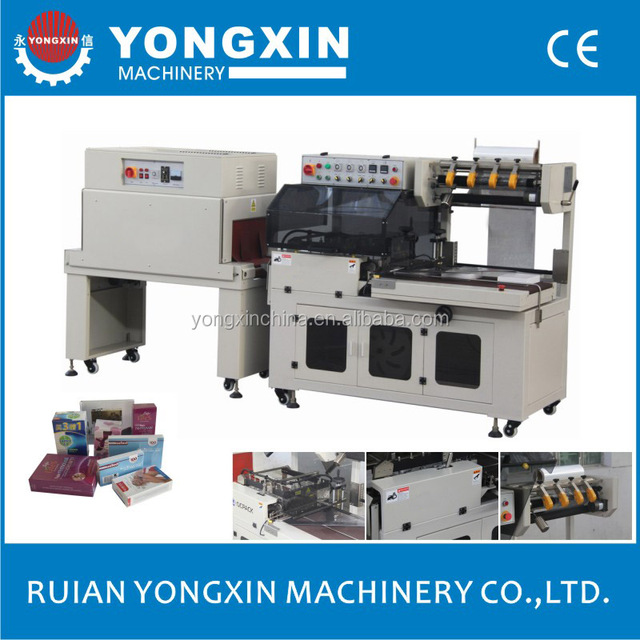 BTA-450A+BM-500 CE certificate L-bar heating shrinking film heating shrinking wrapping machinery
