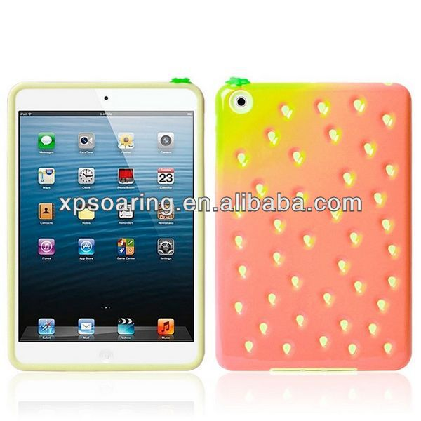 Cute Strawberry soft cover case for ipad mini
